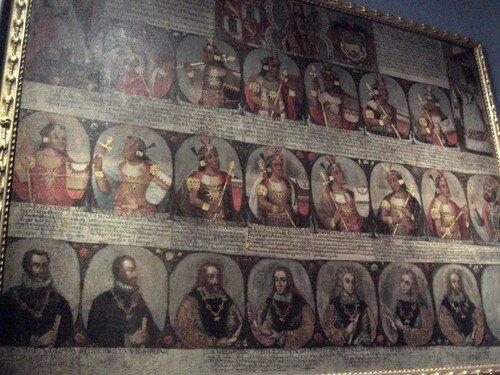 Lima, succession des Incas et des rois d`Espagne
