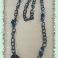Collier chaine noire
