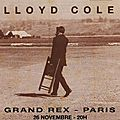 <b>Lloyd</b> <b>Cole</b> - Mardi 26 Novembre 1991 - Grand Rex (Paris)