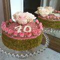Mon gâteau pistache au chocolat blanc, aux framboises et à la rose