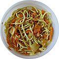 Dans mon bento: nouille/carotte au curry