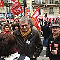Manifestation contre l'A N I ( ACCORD National Interprofessionne