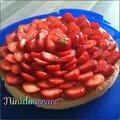 tarte aux fraises ( crème pistache)