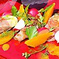 Rouleaux de mozzarella & pancetta, sauce à l'orange