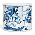 A blue and white brushpot, Qing dynasty, Kangxiperiod (1662-1722)