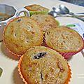 Muffins aux <b>figues</b> <b>fraîches</b>