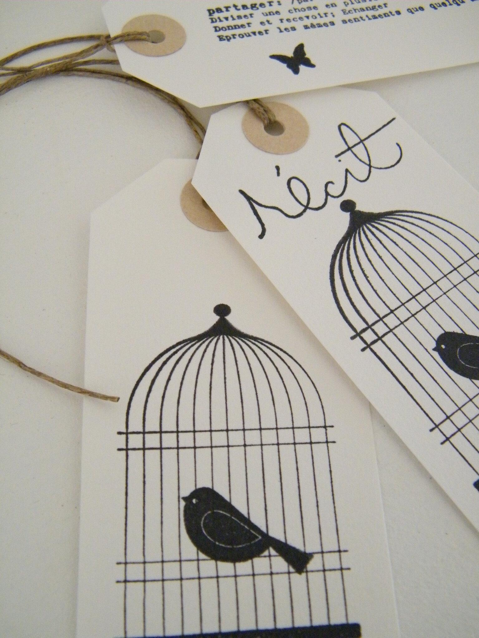 Etiquette 'Cage oiseau'