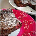 Gâteau fondant chocolat & framboises