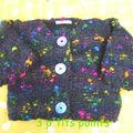 gilet multicolore