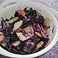 Salade croquante de chou rouge