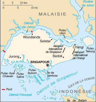 SINGAPOUR - CARTE