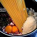 One pasta pot: carbonara
