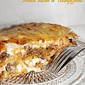 Tortilla façon lasagnes à la viande hachée et champignons