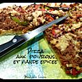 Pizza à la viande epicée