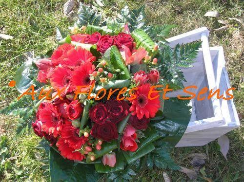 Bouquet rond Structuré (Travail par Masse de Fleurs)