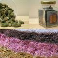 Mon gâteau d'annif, pistaches, framboises et chocolat cuit à la fève tonka