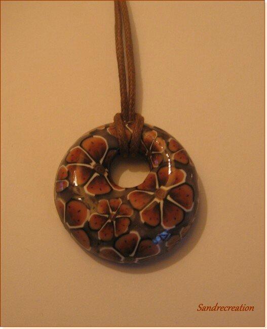 Donut's fleurs marron