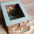 Boîte turquoise et chocolat ooh la la !!