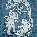 Anges blancs sur bleu 2