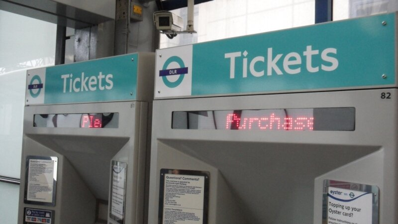 Docklands Light Railway : Billeterie automatique