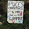 Puces créatives confection des pancartes