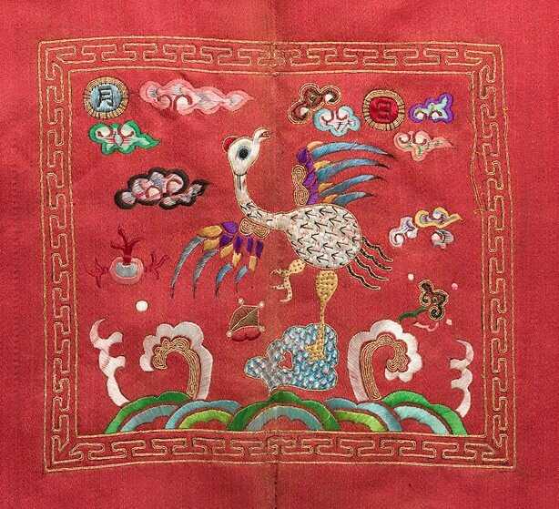 Child's surcoat with third rank badge, Viet Nam, Nguyen dynasty, circa 1825, embroidered silks, 79.0 x 53.5 cm. Gift of Judith and Ken Rutherford 2005, 106.2005. Art Gallery of New South Wales, Sydney (C) Art Gallery of NewSouth Wales, Sydney