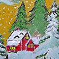 Landscapes under the snow - painting by lodya - painting by silvan