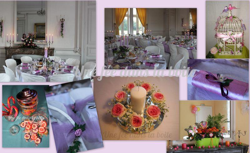 A - Décoration et accessoires pour un mariage romantique