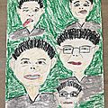 Portraits: grimace - arts plastiques en 5ème