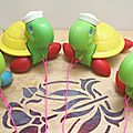 Tortue à tirer - fisher price vintage - 1977