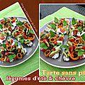 Tarte (sans pâte) fraîcheur légumes d'été & chèvre