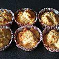 Muffins noix de coco et choco blanc