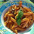 Un tour en cuisine (145) : pates aux tomates, aubergines et mozzarella de jamie oliver