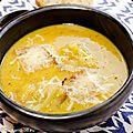 Soupe aux oignons et patate douce