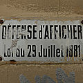 54620 DEFENSE D'AFFICHER
