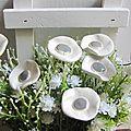 Bouquet de coquelicots en cérampique (4)