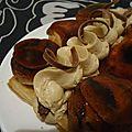 Saint honore caramel et speculoos, coeur fondant de truffes de chocolat