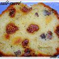 Cake sucre-sale ( figues et magret séché )