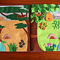 Quiet book page 5 - habitat des animaux sauvages - wild animals habitat