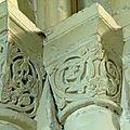 chapiteaux sculptés de l'abbatiale de la Sainte Trinité de Fécamp