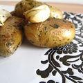Pommes de terre grenailles sautées au persil et à l'ail