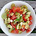 Salade premières vendanges d'août
