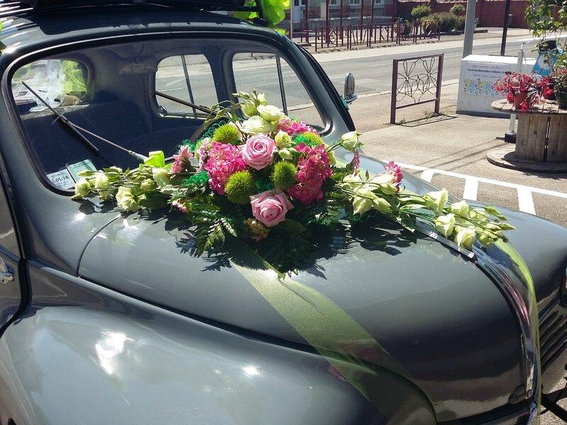 Deco Fleur Voiture Mariage