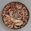 Bowl Depicting King Zahhak with <b>Snakes</b> Protruding from His Shoulders, Attributed to Northwestern Iran, Garrus District, 12th–13t
