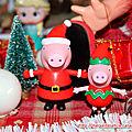 Figurines <b>Peppa</b> <b>Pig</b> thème Noël
