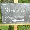 les photos de l'atelier de dégustation du 3 & 4 septembre 2011