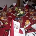 Décoration de la salle tables des invités