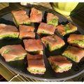 Bouchées de saumon fumé aux courgettes