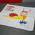 Le Manège Enchanté, un petit mouchoir en coton en l'honneur de Ambroise l'escargot !