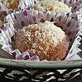 Boules fondantes à la noix de coco
